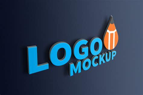 3d Logo Text Mockup Smart Object Psd Realistic 3d Logo Mockup Psd Graphicsfuel