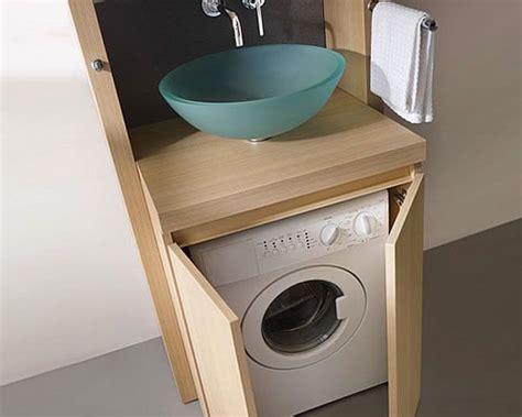 lave linge dans cuisine gain de place dans la salle de bain le lave linge