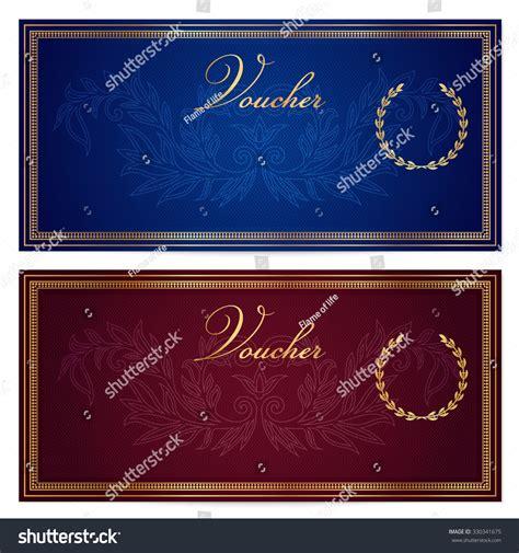 voucher gift certificate coupon gift money stock