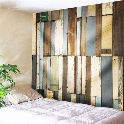Shop for boards decor wall online at target. 40% OFF Vintage Wood Board Wall Art Tapestry   Rosegal