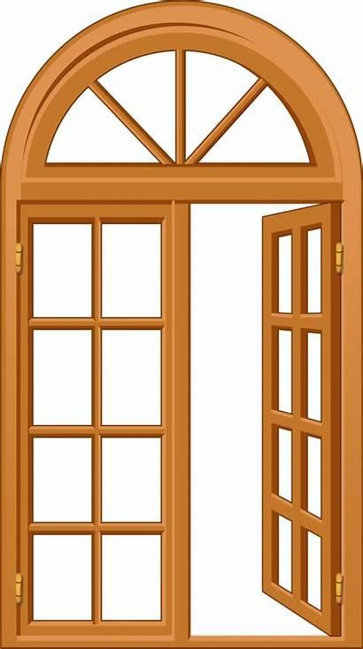 Clipart Windows Door Wooden Clip Window Doors