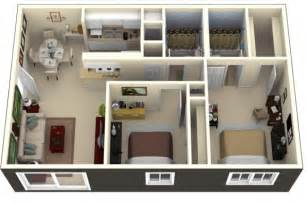 1 Bedroom Apartments Under 700 by Idee Plan3d Appartement 2chambres 49