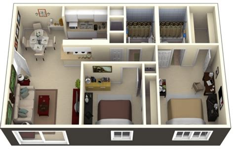 plan appartement 2 chambres idee plan3d appartement 2chambres 49