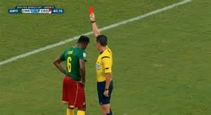 Cameroon Alex Song Gets Red Card Against Croatia