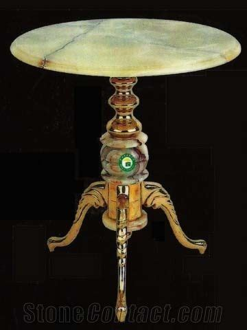Light Green Onyx Table Top from Pakistan   StoneContact.com