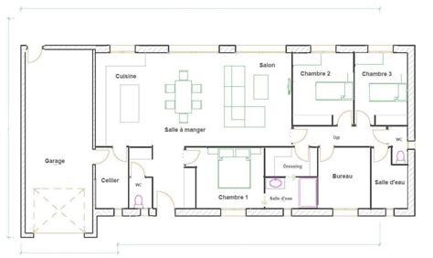 plan de maison gratuit 3 chambres plan maison plain pied 3 chambres gratuit plan maison 3