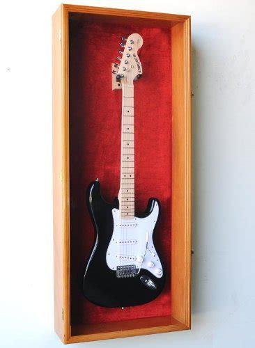 Guitar Fender Display Case Cabinet Wall Rack w/ UV