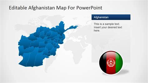 editable afghanistan map  powerpoint slidemodel