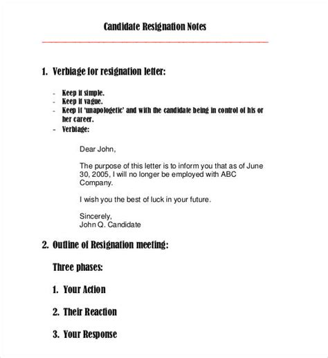 mailing letter format 23 email resignation letter templates pdf doc free 23538 | Email Resignation Letter Outline Template