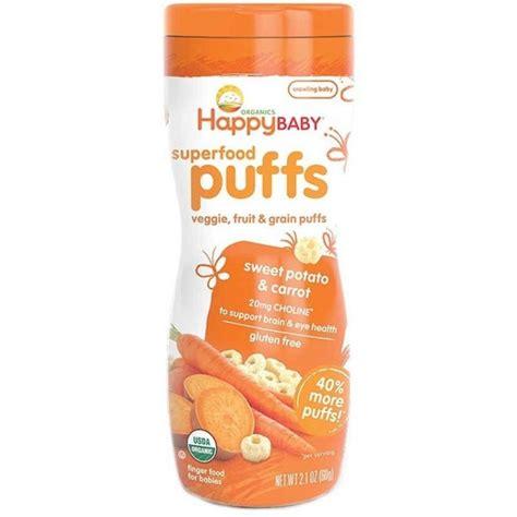 Happy Baby Organic Puff happy baby organic puffs sweet potato carrot food