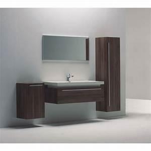 Meuble Salle De Bain Suspendu : meuble de salle de bain suspendu bois 120cm achat ~ Melissatoandfro.com Idées de Décoration