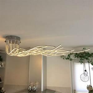 Wofi Led Deckenleuchte : wofi benett led deckenleuchte 2800 lumen 150 cm chrom deckenlampe kaufen bei licht ~ Eleganceandgraceweddings.com Haus und Dekorationen