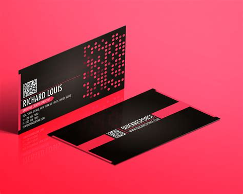 hot pink business card lemon graphic singapore