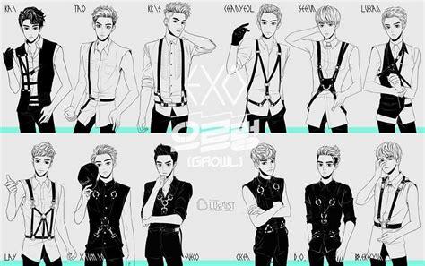 not lagu my love exo korean boy band anime amino