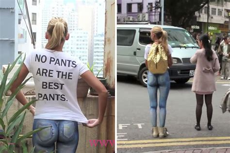 Watch Nearly Naked Model Around With No Pants On No One