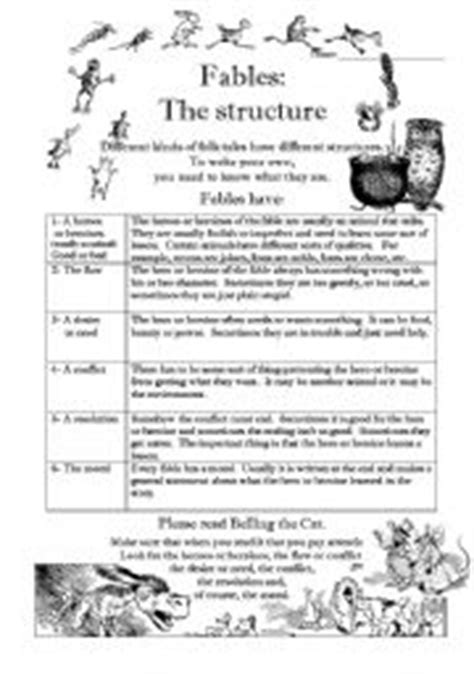 fables worksheets calleveryonedaveday