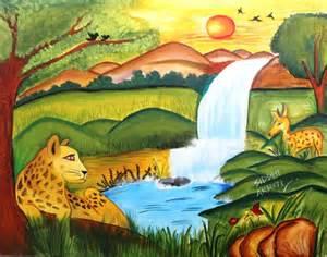 Simple Landscape Paintings Kids