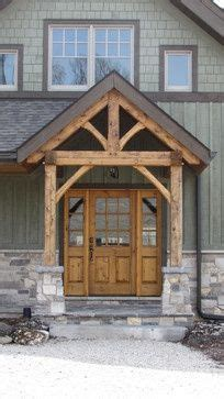 rustic  front entry house exterior exterior