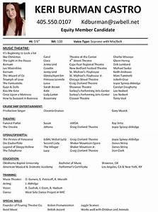 Audition resume best template collection for Audition resume