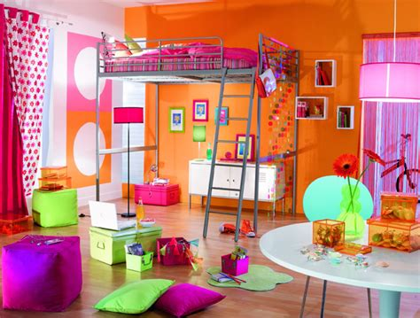 d馗oration de chambre ado décoration chambre ado orange