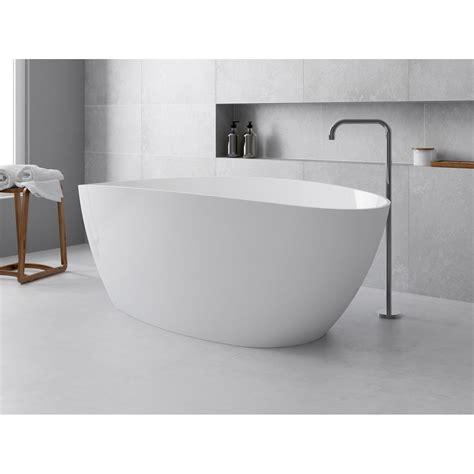 robinet de cuisine douchette baignoire îlot ovale l 157x l 71 cm blanc brillant stori