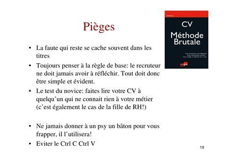 Modèle Cv Débutant by Cv La M 233 Thode Brutale 10 Trucs Fran 231 Ois Meuleman Mode De