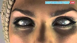 White Contact Lenses (Covers pupil, but lets you see ...