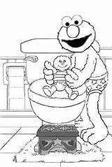 Potty Elmo Training Coloring Pages Colouring Toilet Printable Pee Cartoon Baby Diaper Monster Street Sesame Daycare Activities Cookie Diapers Boys sketch template