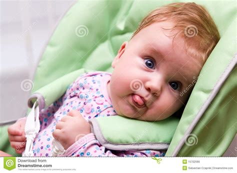 Funny Baby Stock Photo Image Of Sits Portrait Chubby