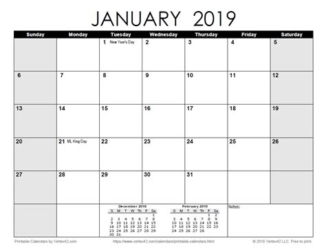 43+ 2021 Monthly Calendar Printable With Holidays  Pictures