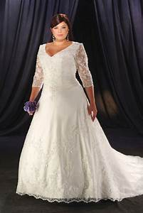 tailored made white ivory v neckline embroidery chapel With 3 4 sleeve wedding dress plus size