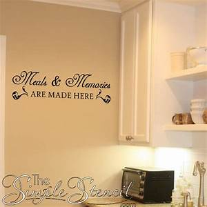 Kitchen stencil designs gallery for Kitchen cabinets lowes with wall art stencils quotes