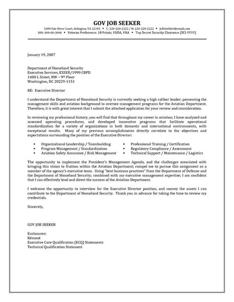 Government Resume Cover Letter Examples - http