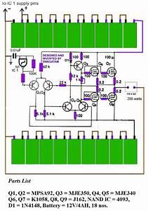 200 Watt Transformerless Inverter Circuit Diagram