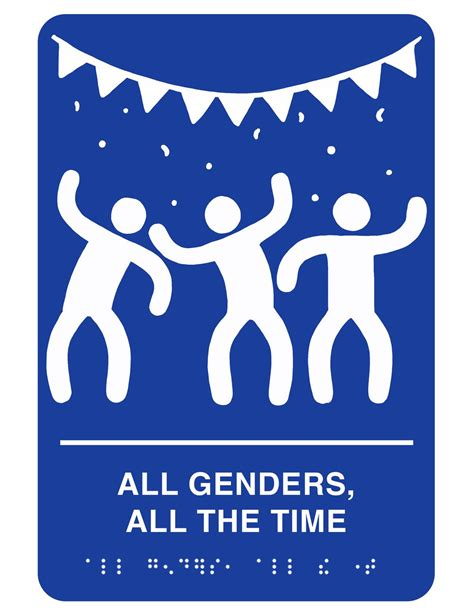 Gender Neutral Bathroom Signs by Printable Gender Inclusive Bathroom Signs You Can Put Up