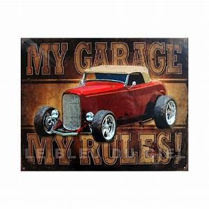 Plaque Publicitaire Métal : plaque m tal publicitaire 30x40cm plate my garage my rules ~ Teatrodelosmanantiales.com Idées de Décoration
