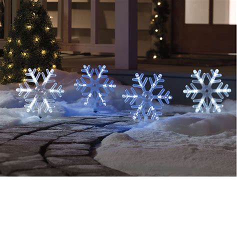 snowflakes pathway markers