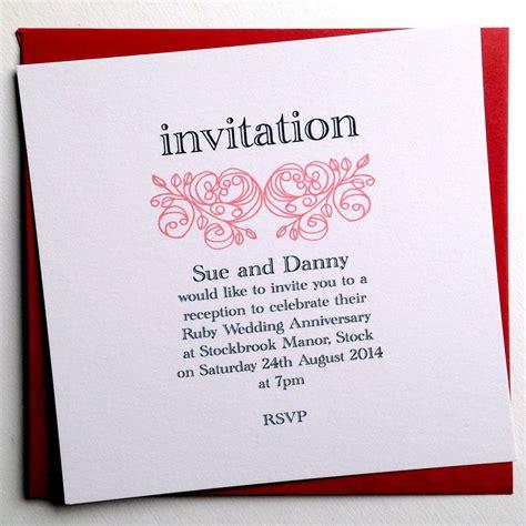 Personalized anniversary invitations : personalized