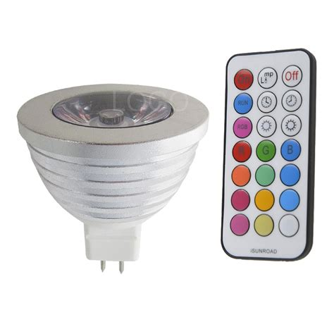 3w e27 mr16 gu10 rgb led bulb l spot light multicolor