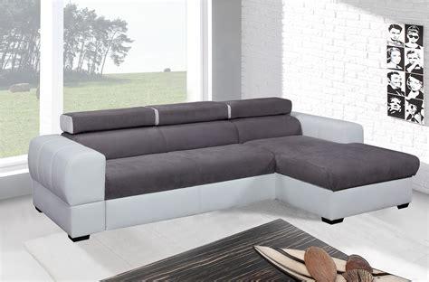 canapé convertible blanc et gris canapé d angle convertible 5 places blanc et gris