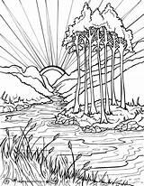 Colouring Coloring Colorir Books Pemandangan Mewarnai Nature Gambar Matahari Terbit Whimsicalpublishing Paisagens Easy Desenhos Arte Printable Campestres Adults Printables Flores sketch template