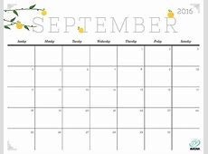 September 2016 Calendar Cute – 2017 printable calendar
