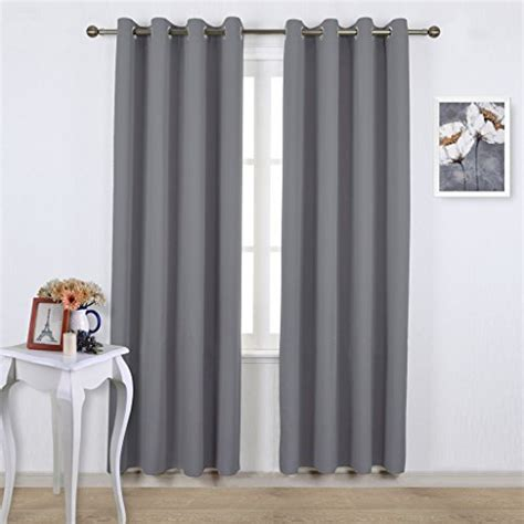 nicetown blackout curtains panels for bedroom three pass microfiber noise reducing thermal