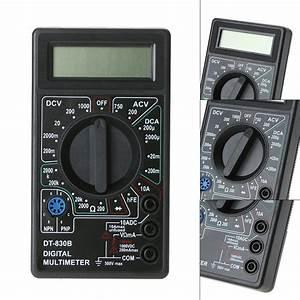 Dt830b Lcd Digital Multimeter Volt Ohm Tester Meter Ac  Dc