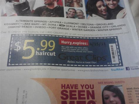 Great Clips Coupon (use At Super Cuts Too)