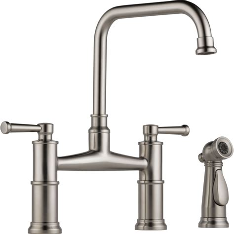 grohe kitchen brizo 62525lf ss artesso brilliance stainless two handle