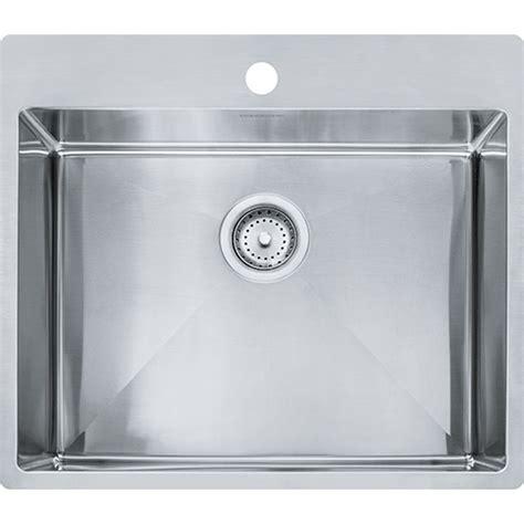 franke hfs2522 1 vector 25 inch dual mount single bowl polished satin kitchen sink hfs2522 1