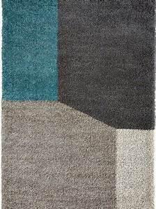 Tapis Bleu Et Gris : tapis contemporain tapis bleu et gris geo d tail saint maclou tapis tapis contemporain ~ Dode.kayakingforconservation.com Idées de Décoration