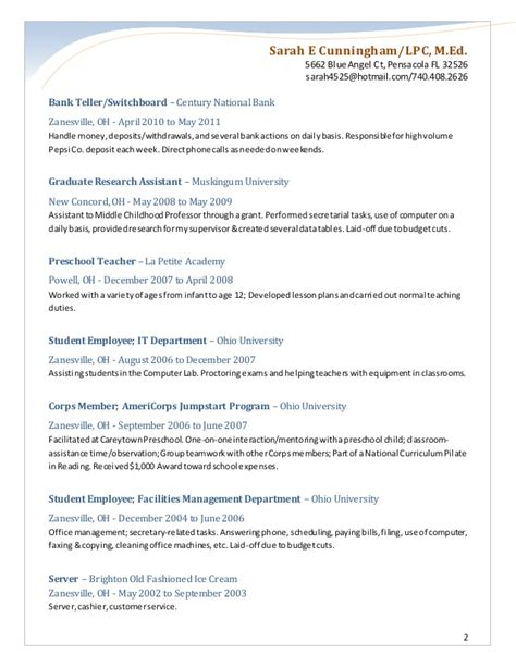 H M Resume by Resume Mh