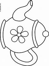 Kettle Coloring Printable Template sketch template